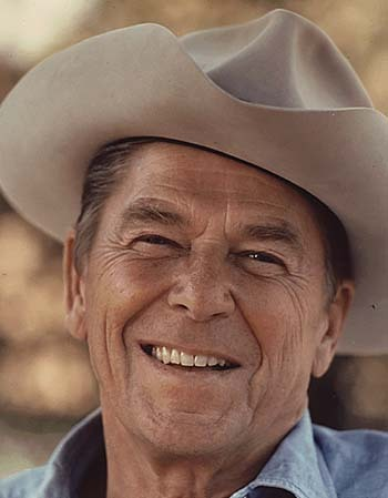 Cowboy Hat Information - Ronald Reagan Wearing Cowboy Hat